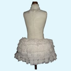 Lace Bustle and Padded Bra for a French Fashion / Lady Doll