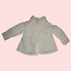 Nice Early White Cotton Doll Blouse, Fashion / Lady