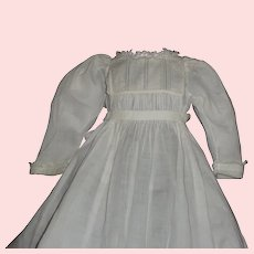 Fabulous Antique Lawn Doll Gown, Smocking and Pintucks