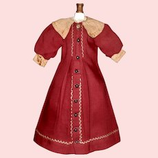 Wonderful Antique Doll Coat / Dress
