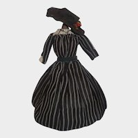 Nice Black and White Stripe Dress and Hat for a Fashion, China