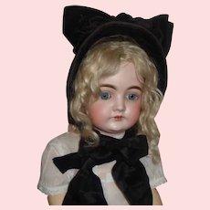 Fabulous Antique Velvet Wire Frame Doll Bonnet
