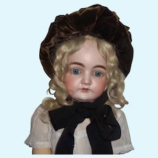 Nice Antique Velvet Bonnet for a French or German Doll