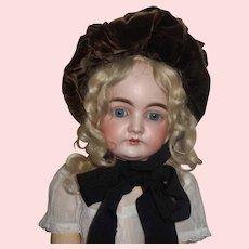 Nice Antique Velvet Bonnet for a French or German Doll