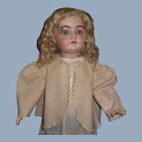 Lovely Antique Pink and Cream Wool Doll Jacket
