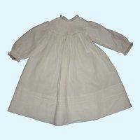 Nice White Cotton Antique Large Doll Dress