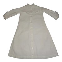 Lovely Antique White  Cotton Gown for your Doll's Trousseau
