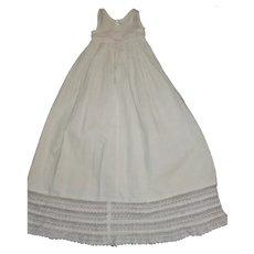 Pretty White Cotton Petticoat, Baby Doll