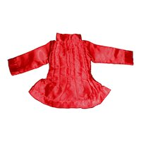 Red Silk Satin Fashion Doll Blouse