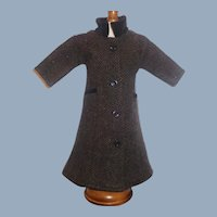 Wonderful Wool Tweed Fashion Doll Coat w Velvet Trim
