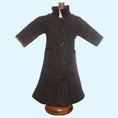 Wonderful Wool Tweed Fashion Doll Coat w Velvet Trim