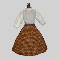 Nice Skirt and Blouse for a China, Cloth. Papier Mache