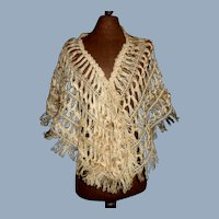 Lovely Light Ecru Silk Thread Shawl for a Fashion, China
