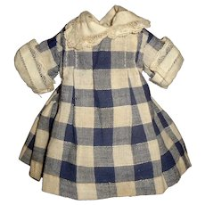 Sweet Blue and White Cotton Small Doll Dress