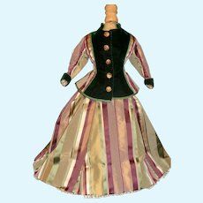 Beautiful French Fashion Silk Walking Suit, Early Materials