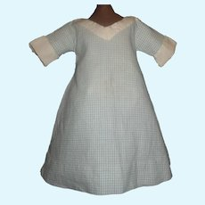 Nice Blue and White Check Doll Dress, Cloth