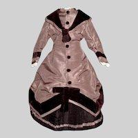 Fabulous Silk Dress for a French Fashion Doll