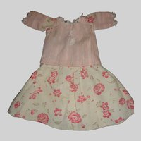 Pink Flowered Doll SKirt with Matching Blouse