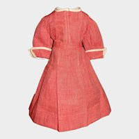 Nice Red Chambray Early Doll Dress, Lady, China