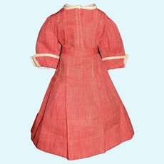 Nice Red Chambray Early Doll Dress, Lady, China