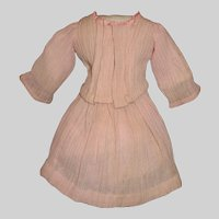 Pink Crepe Doll Skirt and Blouse