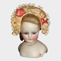 Sweet Early Head Dress for a Small Doll