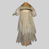 Early Net Lace Dress, Silk Bodice Flapper Doll
