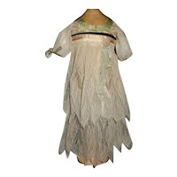 Early Net Lace Dress, Silk Bodice Flapper Doll