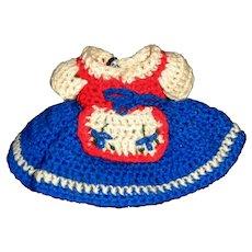 Regional Costume Knit Small Doll Dress