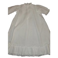 Antique White Cotton Lawn Doll Dress or Gown