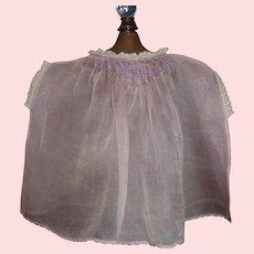 Sweet Sheer Purple Organdy Doll Dress, Fabulous Smocking