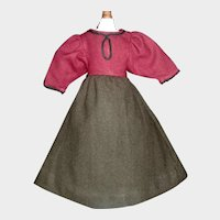 Nice Early Made Wool Doll Dress.