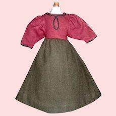 Nice Early Made Wool Doll Dress.