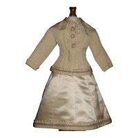 Nice French Fashion Doll Dress, Lovely Trim