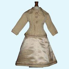 Nice French Fashion Doll Dress, Lovely Trim