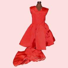 Red Silk Taffeta Madame Alexander Winnie Walker Doll Dress w Undies