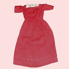 Antique Red and White Polka Dot Doll Dress