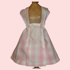 Sweet Pink and White Plaid Cotton Doll Skirt
