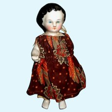 Not So Perfect Adorable Antique  Little Chubby Frozen Charlotte China Doll
