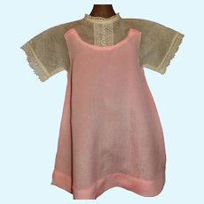 Early Pink Silk and Net Doll Dress