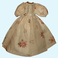 Lovely  Tan Floral Doll Dress, China
