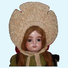 Fabulous Antique Large Red Doll Bonnet