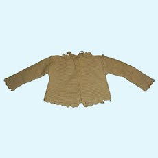 Nice Early Wool Knit Sweater for a French or German Doll