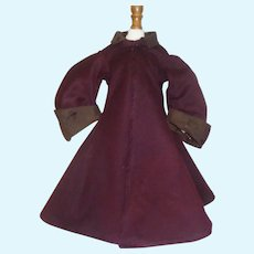 Lovely Coat for A French Fashion or any Early Lady Doll