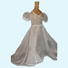 Sheer White Organdy Fashion Doll Dress