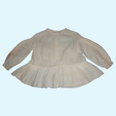Early White Child Blouse, Large Doll