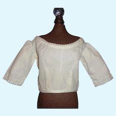 Nice White Cotton Fashion Doll Blouse