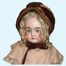 Lovely Golden Brown Antique Straw Doll Hat