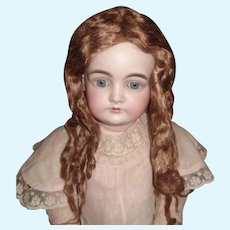 Early Brown Mohair Curled Doll Wig