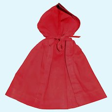 Vintage Red Cotton Doll Cape